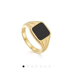 Missoma x Lucy Williams Square Black Signet Ring